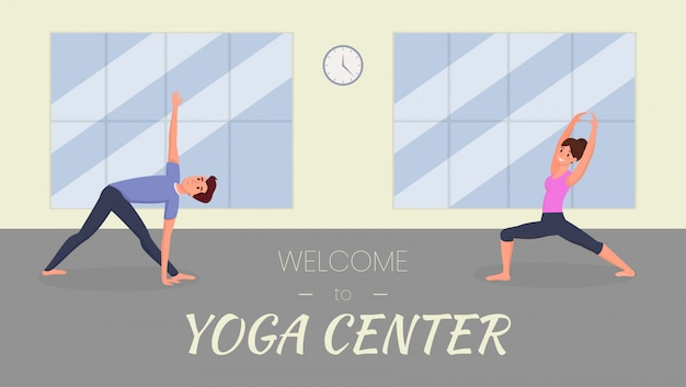 Yoga center banner template