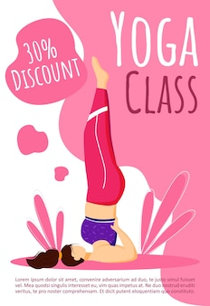 Yoga class discount template. active and healthy lifestyle.