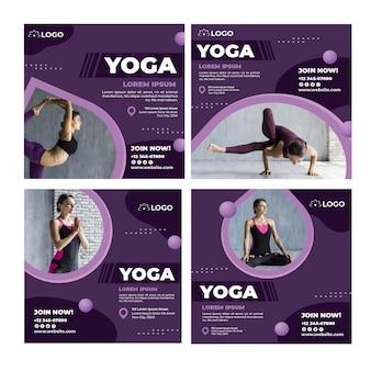 Post su instagram di lezioni di yoga Vettore gratuito
