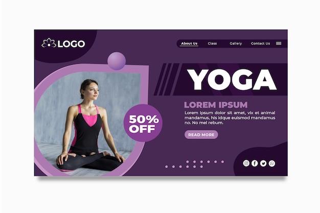 Pagina di destinazione del corso di yoga