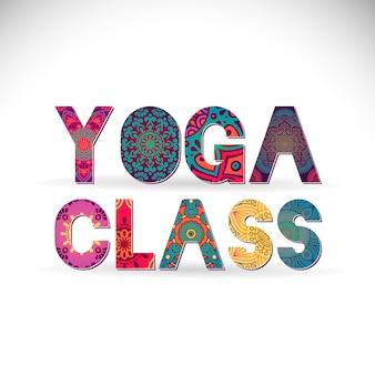 Yoga class lettering mandala style
