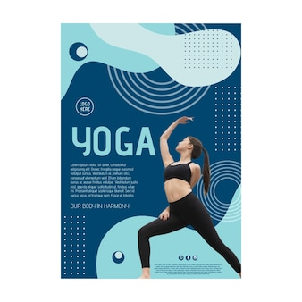 Yoga class poster with photo