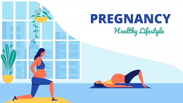 Yoga class for pregnant women healthy lifistile