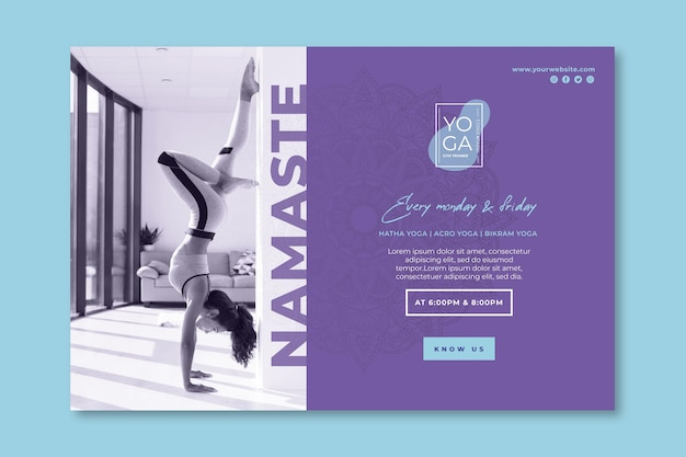 Yoga classes banner template