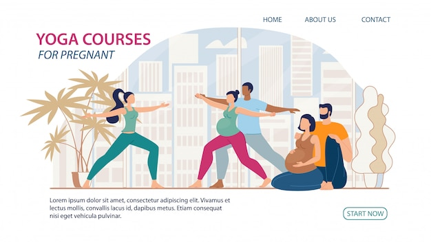 Yoga courses for pregnant flat  web banner