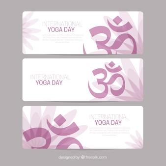 Yoga bandiere giorno di raccolta
