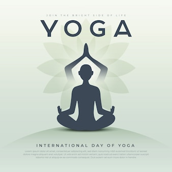 Yoga day creative template