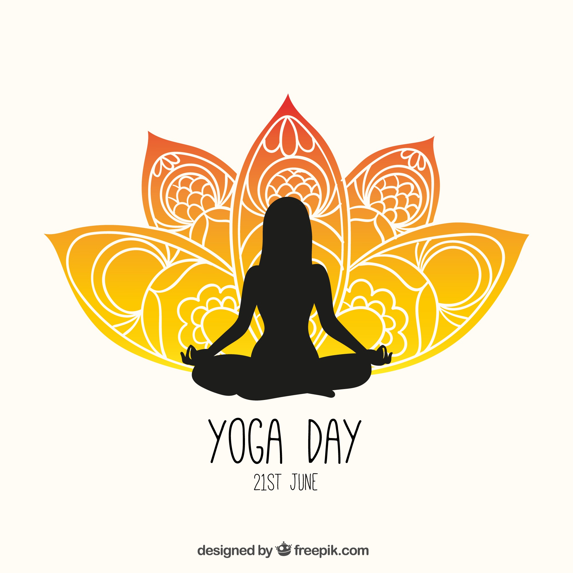 Yoga day flyer