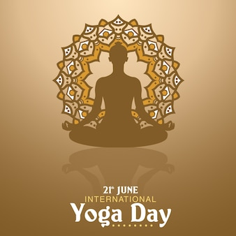 Yoga day illustration