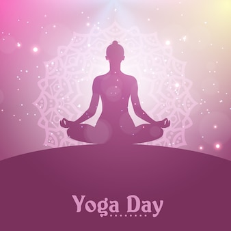 Yoga day illustration