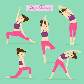Yoga element for exercise daily.