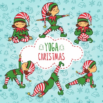Yoga elf christmas
