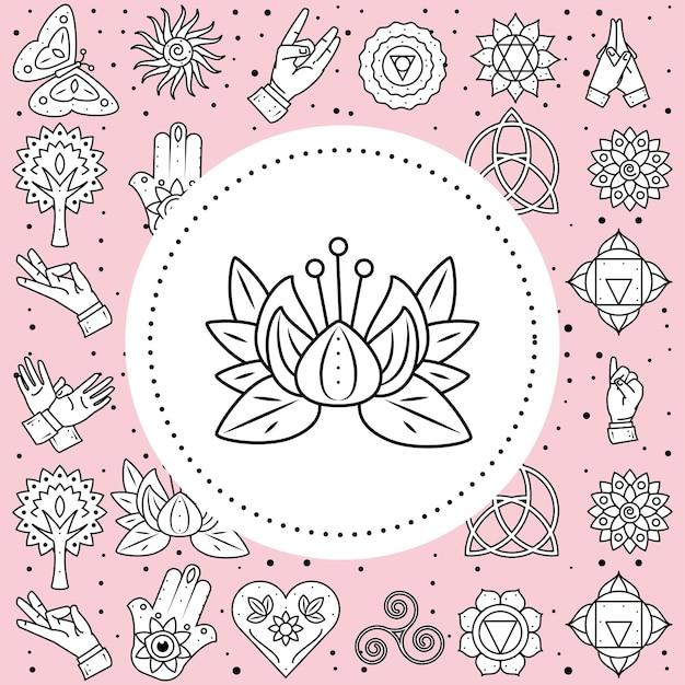 Йога цветок лотоса