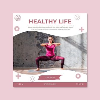 Yoga flyer square