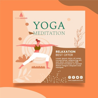 Yoga flyer template design