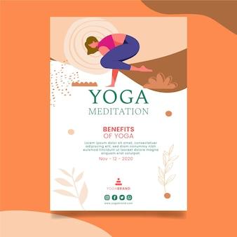 Modello di volantino yoga