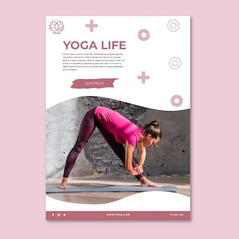 Yoga flyer vertical
