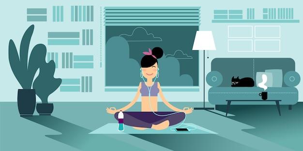 An yoga girl.