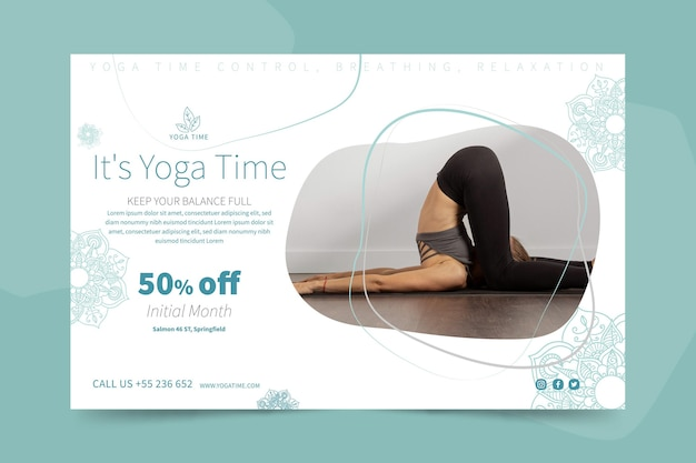 Yoga horizontal banner template