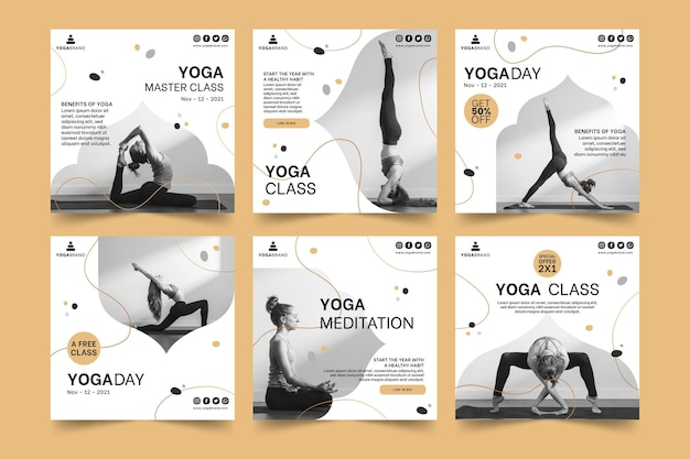 Yoga instagram posts template