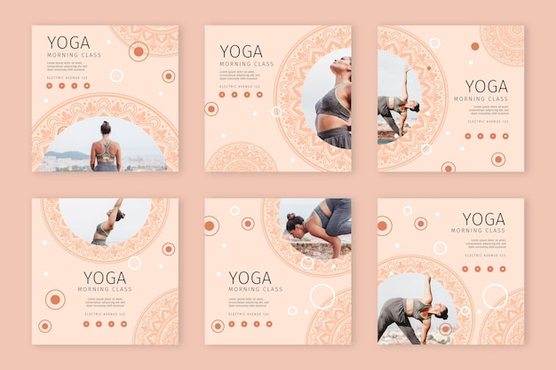 Yoga instagram stories collection