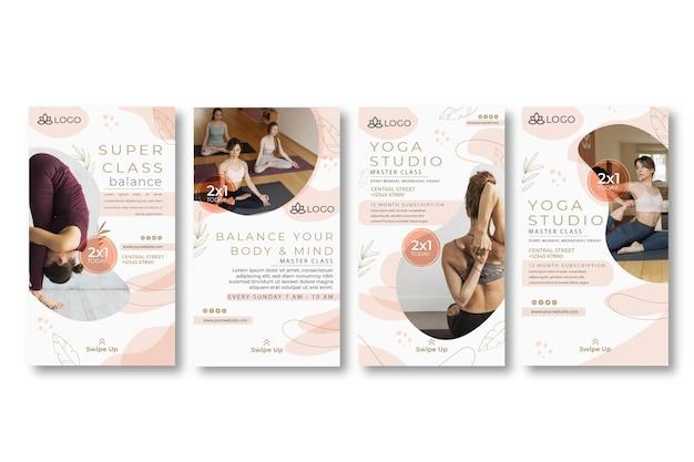 Raccolta di storie instagram di yoga yoga
