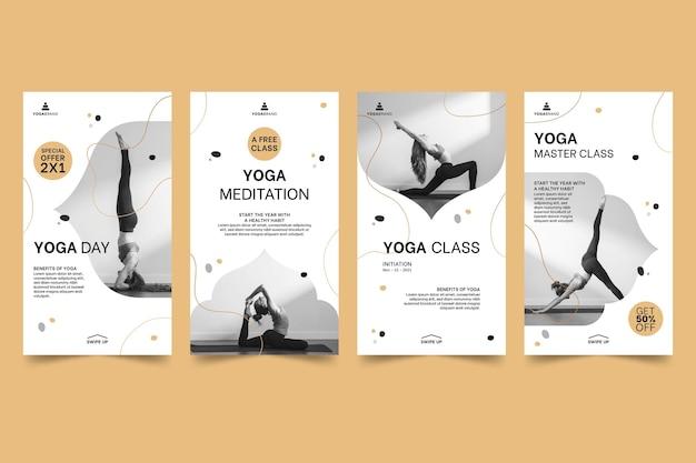 Шаблон историй йоги instagram