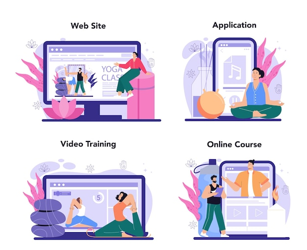 Онлайн-сервис или платформа инструктора по йоге для мужчин