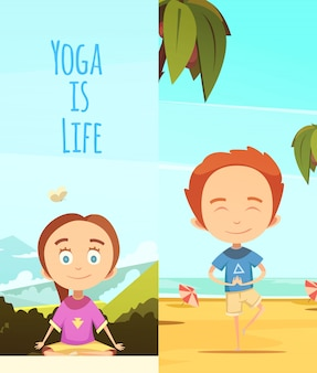 Yoga is life illustration