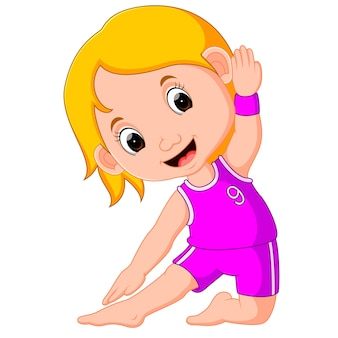 Yoga kids gymnastic for children and healthy life