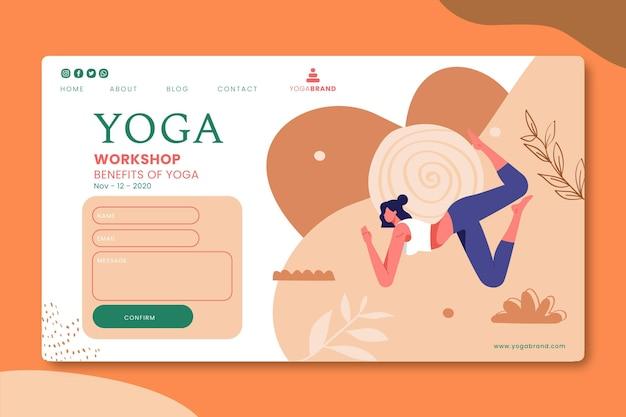 Progettazione della pagina di destinazione dello yoga