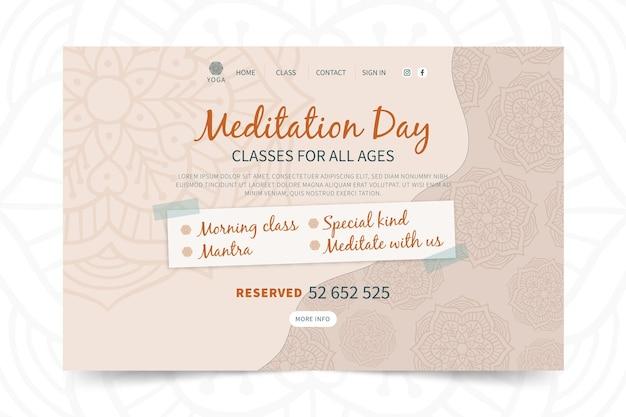 Modello di pagina di destinazione yoga