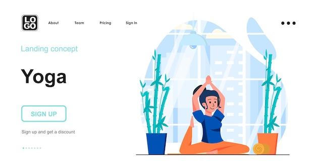 Yoga landing page template