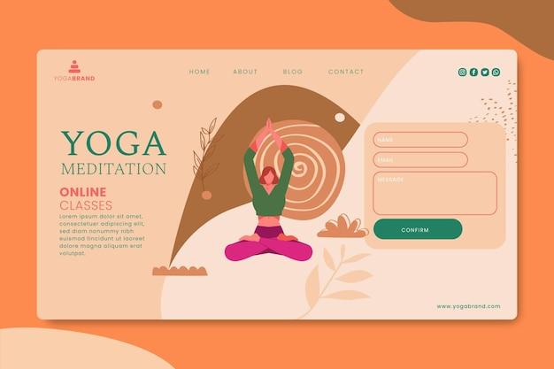Pagina di destinazione dello yoga