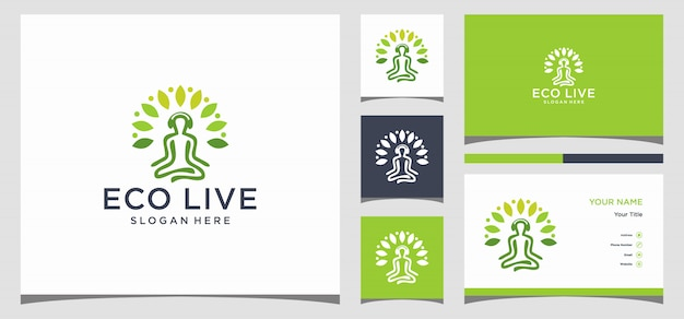 Yoga logo and business card