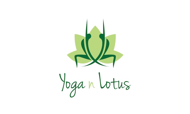 Yoga logo design with lotus flower