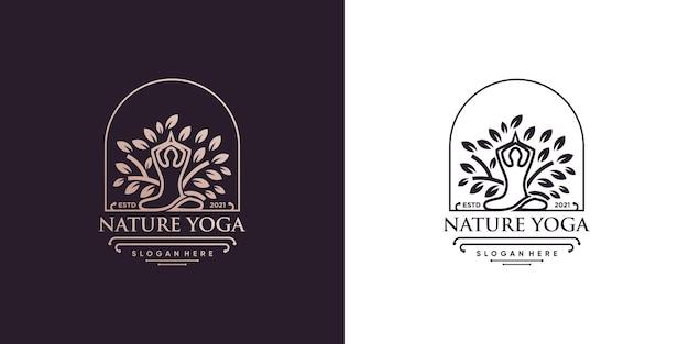 創造的な要素スタイルのプレミアムベクトルパート3のヨガのロゴ