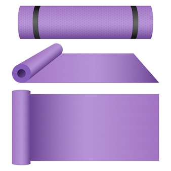Yoga mat design illustration isolated on white background