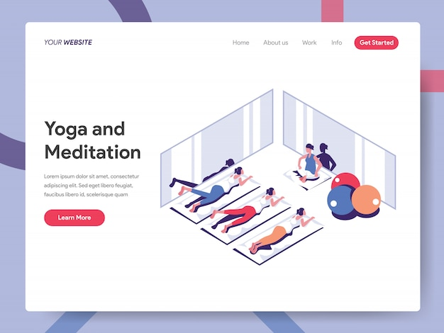 Yoga and meditation banner for website page