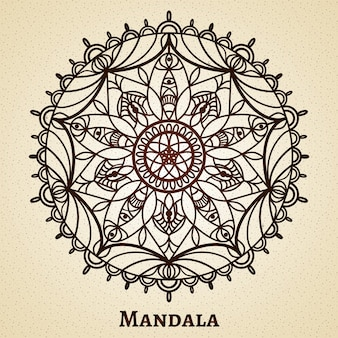 Yoga meditation mandala ornament. design sacred symbol, buddhism and flower decoration