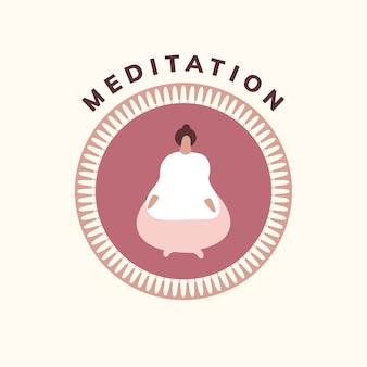 Yoga and meditation wellness icon