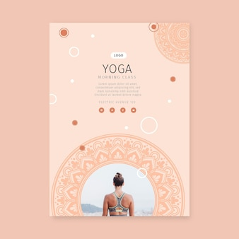 Yoga morning class poster template
