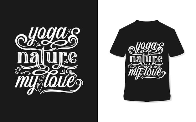 Yoga nature my soul typography t-shirt design