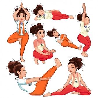 Yoga poses design