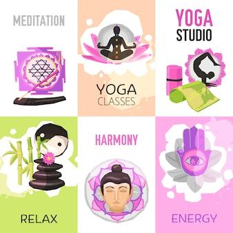 Набор постеров для йоги