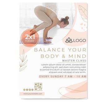Modello di poster di yoga con foto