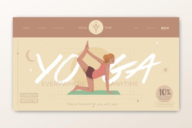 Modello di pagina di destinazione per la pratica dello yoga