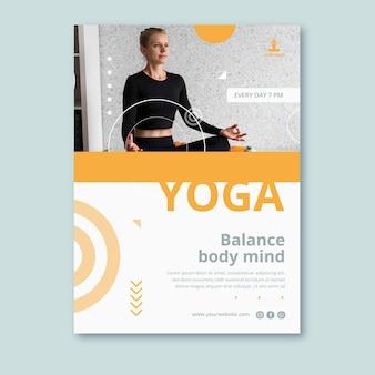 Шаблон плаката практики йоги