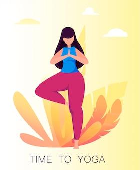 Yoga practice. woman meditating