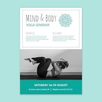 Modello di poster del seminario di yoga